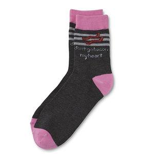 Women's Quarter Socks-Bacon